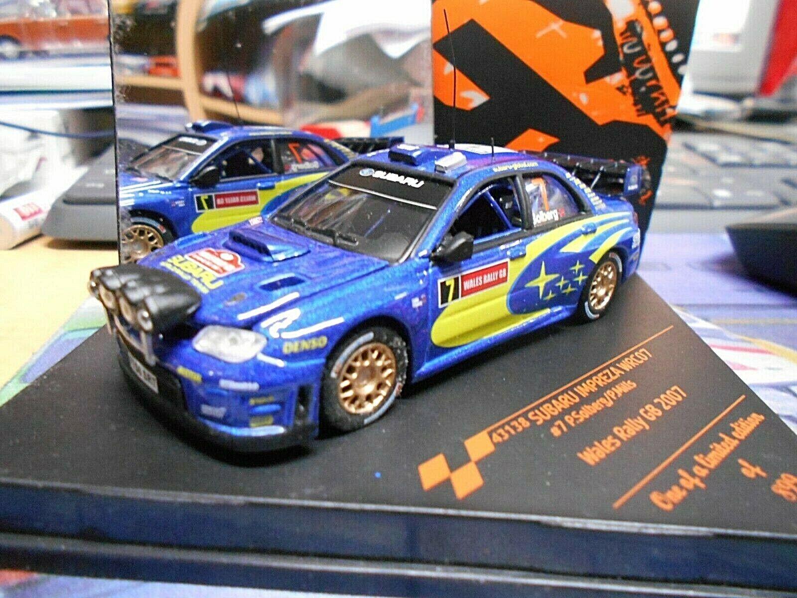 Subaru Impreza WRC Rallye 2007 WALES GB  7 Solberg NIGHTVERSION VITESSE 1 43