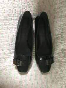 Gorgeous-FOOTGLOVE-Black-Patent-Leather-Court-Shoes-Buckle-Detail-6-5-Worn-Twice