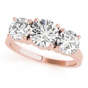 1.35 Ct Round Cut Diamond Wedding Ring 14k Solid White Gold Rings Size M N O P K Fine Rings