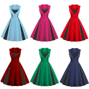 8634f471f83 Women Style 50s Hepburn Rockabilly Retro Swing Pinup Evening Party ...