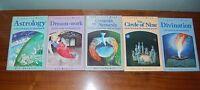 Lot 5 Vintage 1980s Spirituality Books; Dream-Work Astrology Genesis or Nemesis