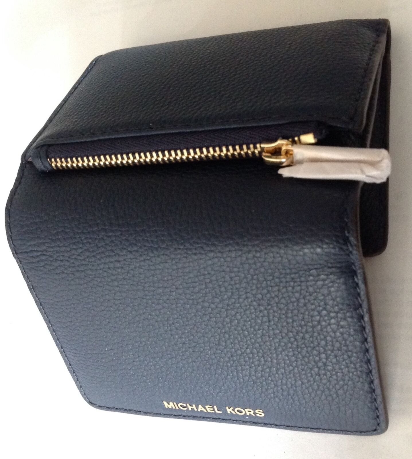 e40cb590e7b5 Michael Kors Liane Small Navy Leather Billfold Wallet 32s6gl3f1l ...