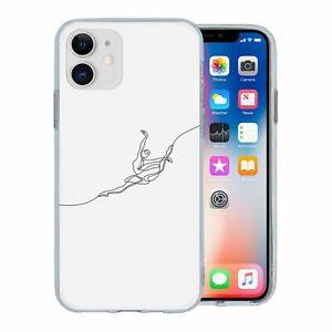Pour-Apple-IPHONE-11-Silicone-Etui-Minimal-Ballet-Danseur-S7226