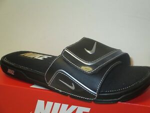 1054d73a047249 Image is loading NIKE-COMFORT-SLIDE-2-BLACK-SILVER-WHITE-SLIDES