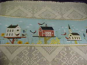 Details About Wallpaper Border Birdhouses By Warren Kimble 15 Ft X 6 875 In Roll New