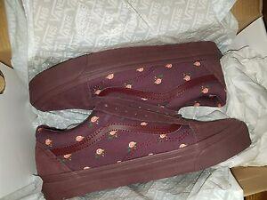 6dd5cad6db Vans Vault Undercover OG Old Skool LX Floral Small Flower Bordeaux ...