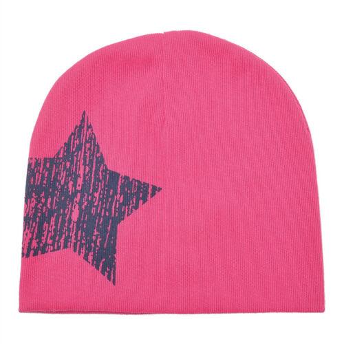 Baby Boy Girl Winter Warm Soft Cotton Cap Kid Toddler Infant Star Beanie Hat