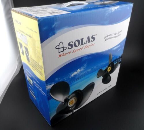 Solas Amita 3 Propeller hélice for SUZUKI Outboard 4111-093-12A 3X9 1//4X12