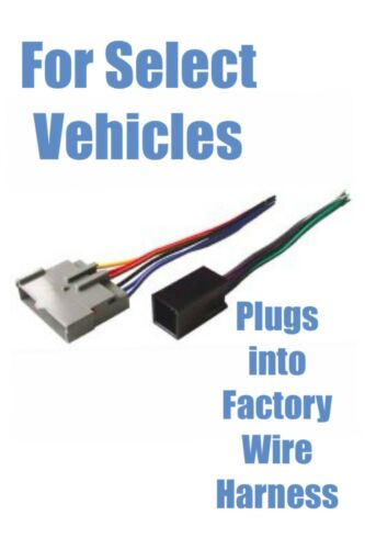 Stereo Install Aftermarket Stereo Audio Plug Wire Harness select Ford Prem Amp