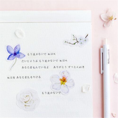 45x Kawaii Journal Diary Decor Flower Stickers Scrapbooking Stationery SupplyFBB