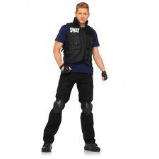 4 Piece SWAT Commander Vest Shirt Knee Pads Gloves Halloween Costume Cosplay O/S