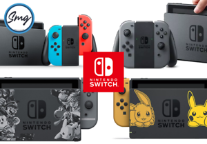 Nintendo-Switch-Console-Neon-Grey-Pokemon-Super-Smash-Bros-FREE-DELIVERY