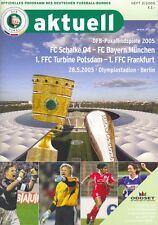 DFB Pokalendspiel 28.05.2005 + FC Schalke 04 vs. FC Bayern München + Magazin RAR