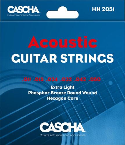 Cascha Akustik Gitarren Saiten Extra Light Tension .011 .050