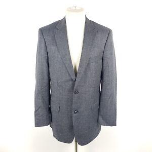 Hugo-Boss-Tweed-Sakko-Pasini3-Herren-Gr-98-Grau-Blau-2-Knopf-Wolle