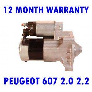 PEUGEOT-607-2-0-2-2-2000-2001-2002-2003-2004-2005-2006-2015-RMFD-STARTER-MOTOR