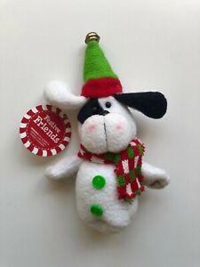 NEW-CHRISTMAS-FESTIVE-FRIENDS-DOG-6-034-PLUSH-ORNAMENT-C593