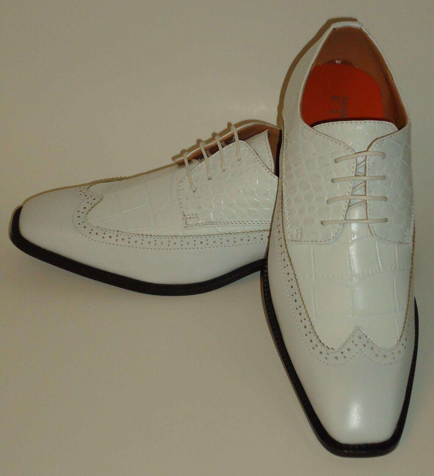 scelte con prezzo basso Mens Classic bianca Wingtip Wingtip Wingtip Oxford Fashion Dress scarpe Antonio Cerrelli 6714  economico