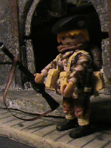 Commando marin Fusilero personnalisé Playmobil (frances) (Walcheren-1944) Ref-0001