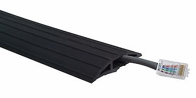 2m / 2 Metre Black Rubber Floor Cable / Cable Tidy / Wire Safety Protector Heavy