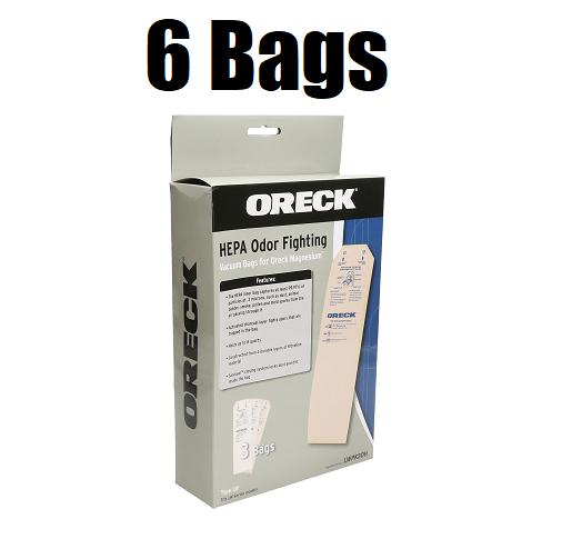 (6) Oreck Hepa Odor Fighting Vacuum Bags for Oreck Magnesium GENUINE