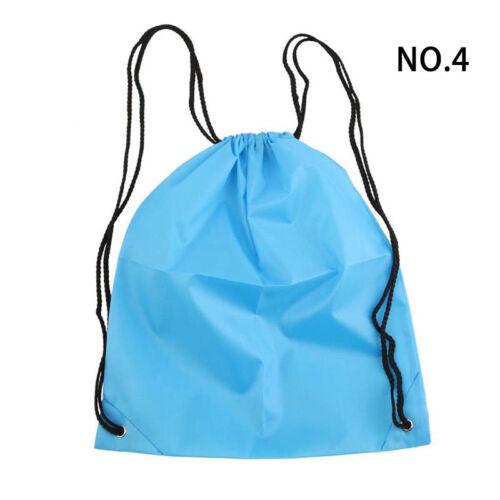 Travel Nylon Drawstring Backpack Bag String Waterproof Sackpack Sports Bags