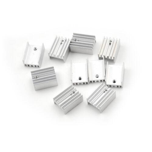 10x ALUMINIUMKÜHLER Kühlkörper-Sets für to-220 Transistor 20x15x10mm Hot  gi