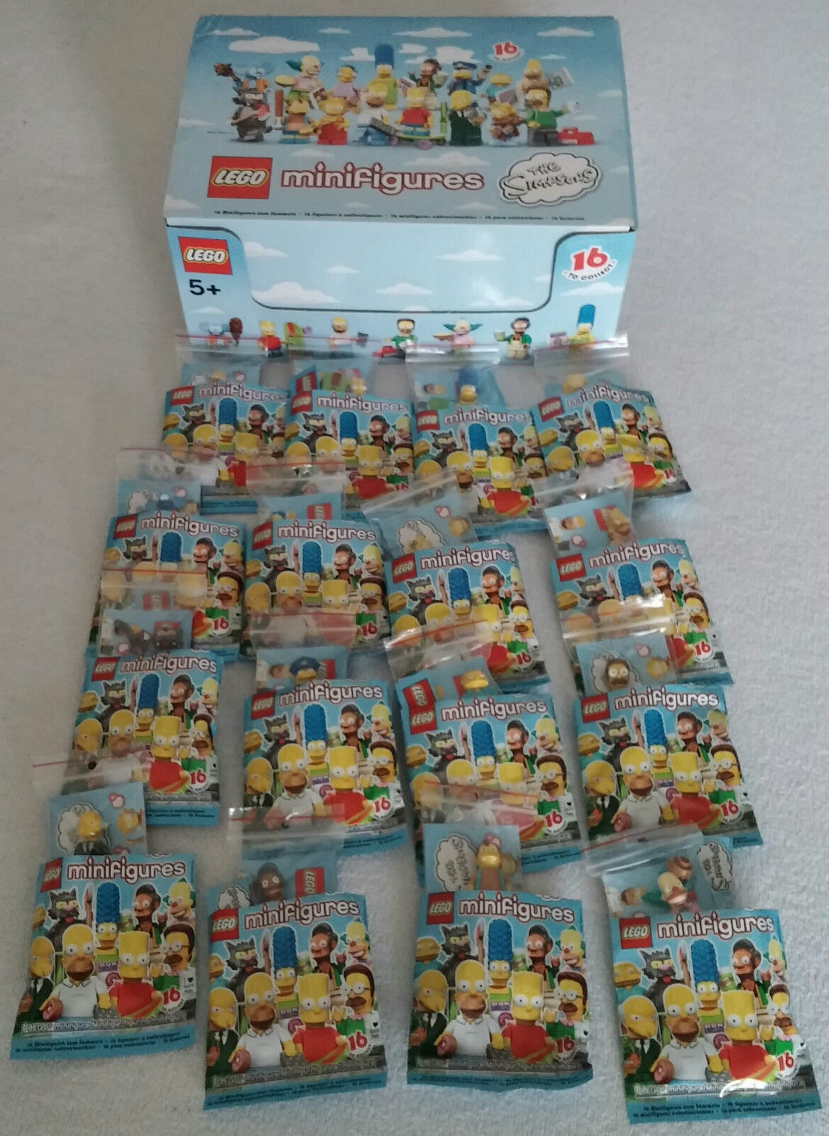 LEGO ® 71005 THE SIMPSONS ™ statuine serie 1 Completa Set Tutte le 16 Nuovo + Box