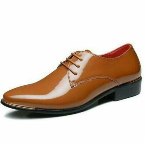 Details about  /Men/'s Formal Business Casual Patent Leather Party Wedding Lace Up Dress Shoes @