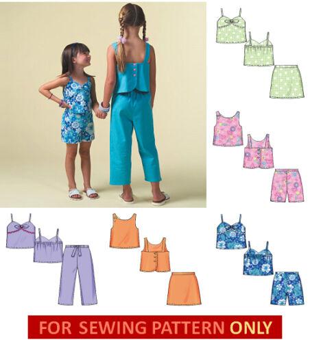 SUMMER MAKE TOPS~SKORT~SHORTS~CAPRI PANTS SEWING PATTERN CHILD 3 TO GIRL 14