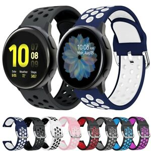 For Samsung Galaxy Watch Active Silicone Sports Band Strap Breathable