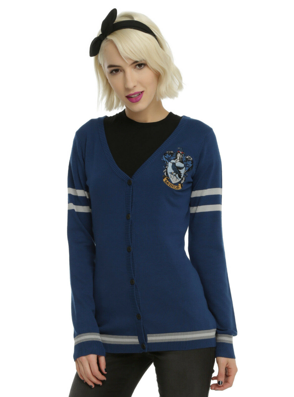 Harry Potter Ravenclaw Cardigan Sweater House Crest button down JRS S-XL NWT