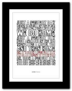 Details about LOU REED Perfect Day ❤ song lyrics typography poster art  print #41