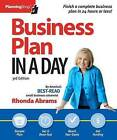 Business Plan in a Day by Rhonda Abrams (Paperback / softback, 2013)