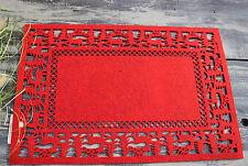 Clayre & Eef * 2 Tischsets * Platzsets * Rot * Filz * Hirsch * Weihnachten *
