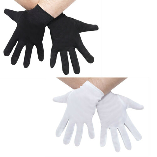 A321 Mens Womens White Black Santa Ninja Short Halloween Party Costume Gloves