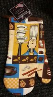 Rare Fat Chef Printed Kitchen 13 Large Oven Mitt, Lady Chef