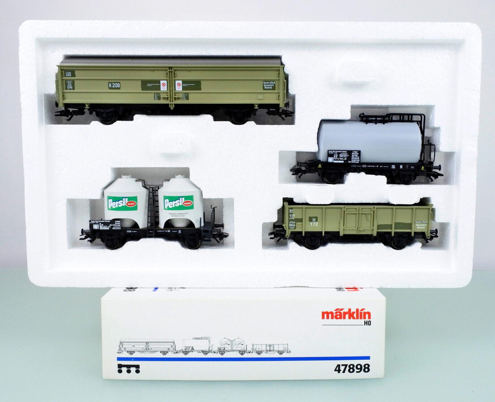 Marklin HO Scale 47898  Henkel  4 Conjunto De Coche de carga