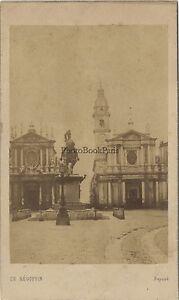 Torino Place San Charles Italia CDV Vintage Albumina Ca 1860