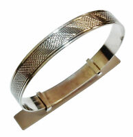 Stamped 'SILVER', Sterling Silver Patterned Baby/Childs Bangle