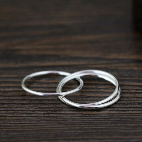 925 Sterling Silver Triple Intertwining Plain Knuckle Midi Ring A3763