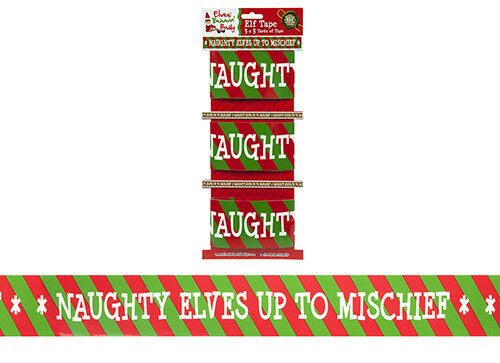 27ft Long Christmas Tape Elf Elves Shelf Banner Garland Xmas Party Decoration 8M