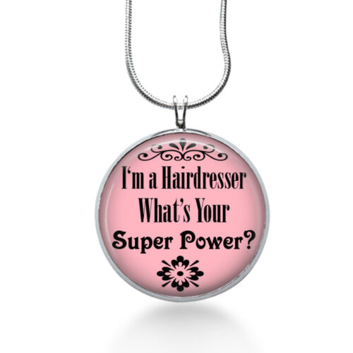 Hairdresser Gifts Hairdresser Charm Necklace Stylist Pendant Super Power