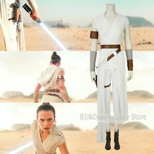 Star Wars The Rise Of Skywalker Rey Cosplay Costume Halloween Full Set Boots Ebay