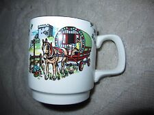 Carrigaline Pottery coffee mug, horse wagon, castle, Celtic design Cork Ireland