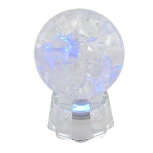 Kristalkugel-bille-de-verre-avec-eclats-effet-et-LED-socle-eclats