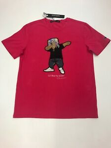 Men-Hudson-T-shirt-100-authentic-size-large-Lil-Bear-Design-Dab-red