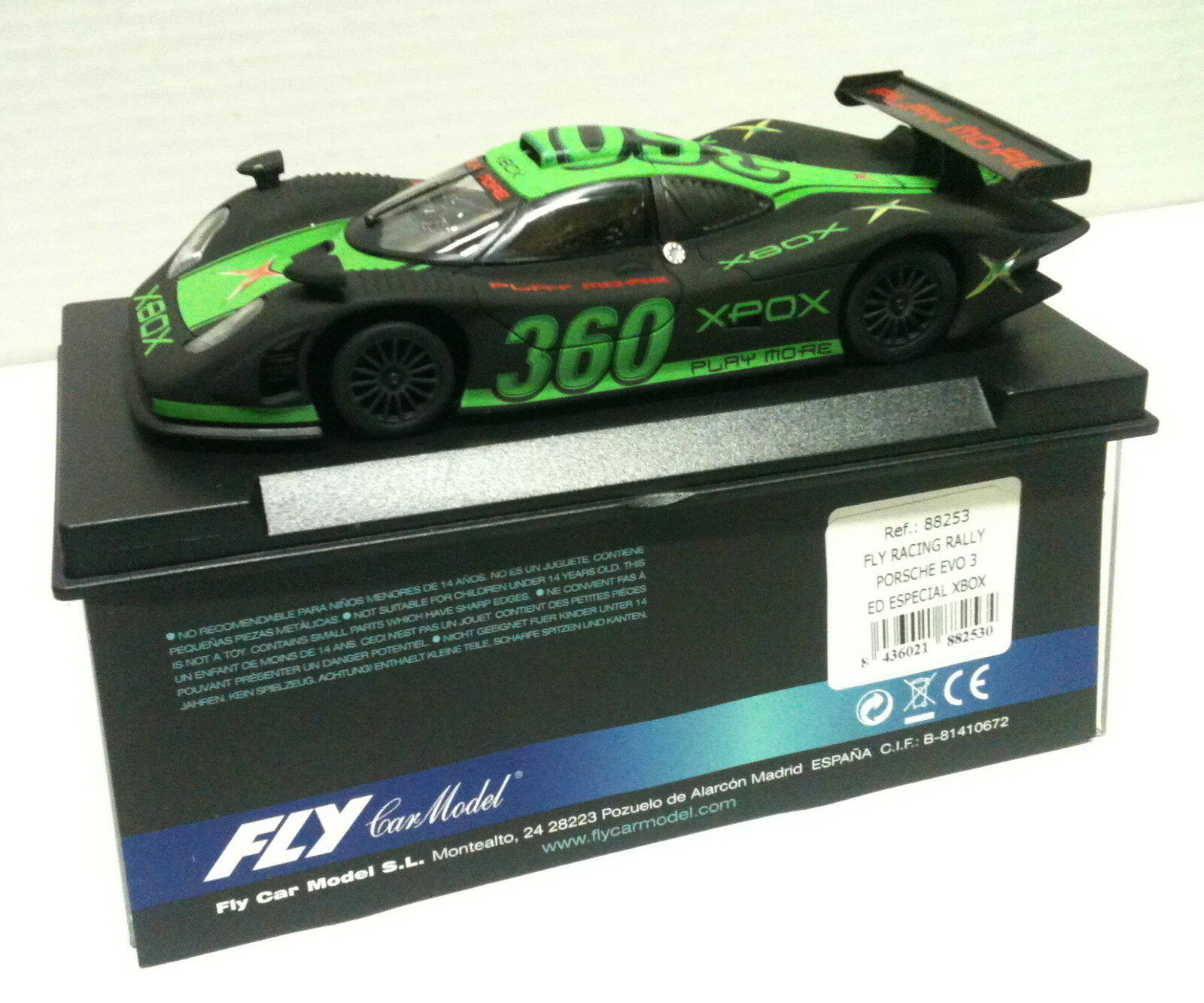 Qq 88253 FLY PORSCHE 911 EVO 3 EDICION SPECIAL 360 XBOX (IN URN)