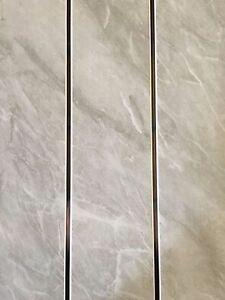 5 Black Sparkle Chrome Strip Wall PVC Cladding Shower Ceiling Bathroom Panels