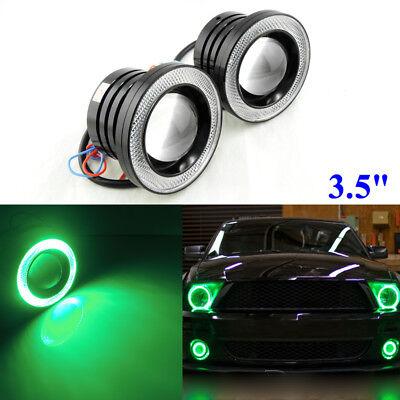 "3.5/"" Multi-Color RGB w// COB LED Angel Eye Halo Rings DRL Fog Light For Dodge USA"